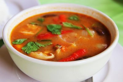 Thai Ginger Prawns Soup
