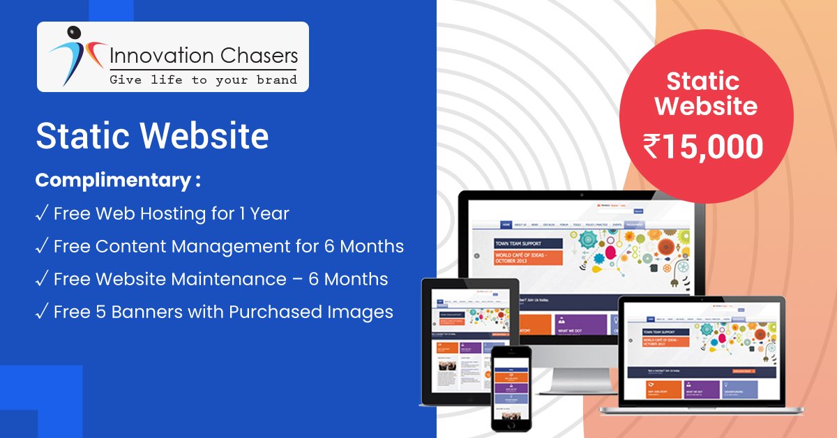 Static Website - Design and Development Charges
