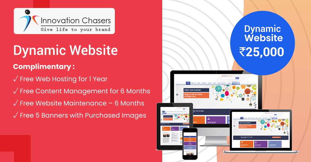 Dynamic Website - Design and Development Charges